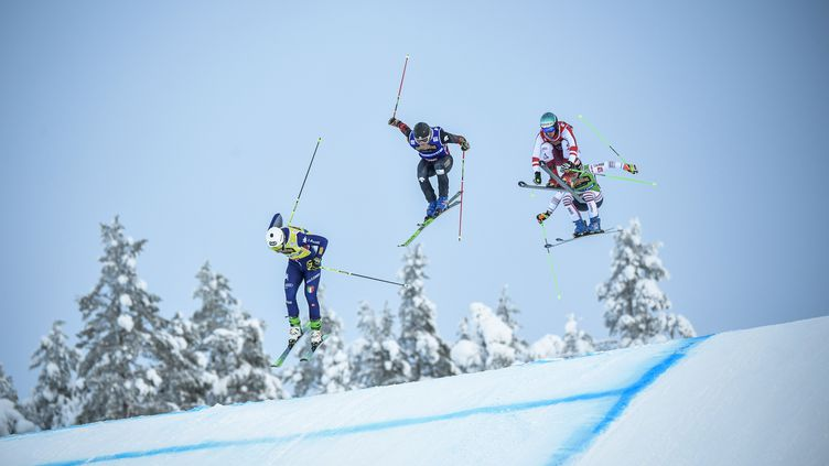 Étape de Coupe du monde de ski cross en Suède, le 23 janvier 2021.  (PONTUS LUNDAHL / TT NEWS AGENCY)