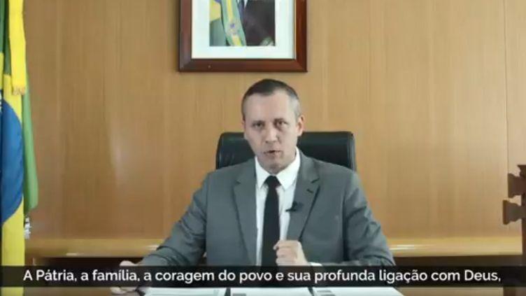 Le ministre de la Culture brésilien Roberto Alvim le 16 janvier 2020. (SECRETARIA DA CULTURA GOVERNO DO BRASIL)