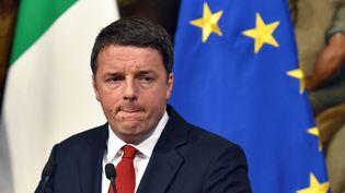 Matteo Renzi, chef du gouvernement italien lors d'une conférence de presse à Rome (Italie), le 28 novembre 2016. (ANDREAS SOLARO / AFP)