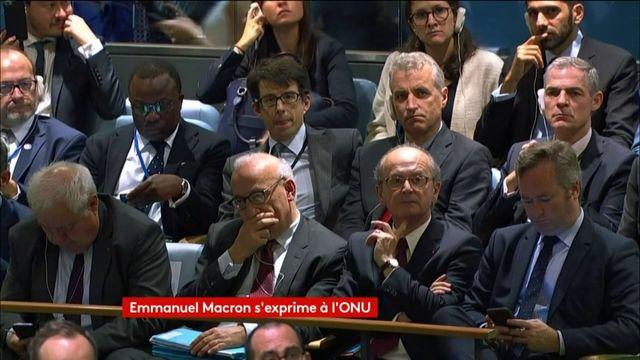 """Macron à l'ONU: l'unilatéralisme conduit """"directement au repli et aux conflits"""""""