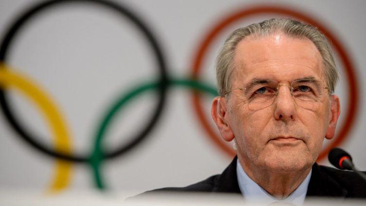 Jacques Rogge lors d'une conférence de presse à Buenos Aires, le 4 septembre 2013. (FABRICE COFFRINI / AFP)
