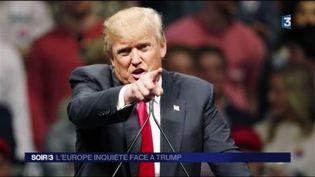 Donald Trump veut booster l'économie américaine. (FRANCE 3)