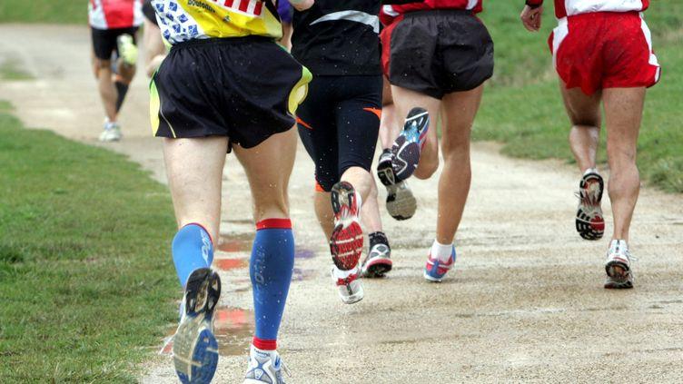 Des coureurs participent à une course à pied (illustration). (JEAN LOUIS PRADELS / MAXPPP)