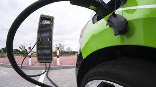 Un véhicule électrique àSchleswig-Holstein (Allemagne) le 21 juillet 2021. (FRANK MOLTER / DPA / AFP)