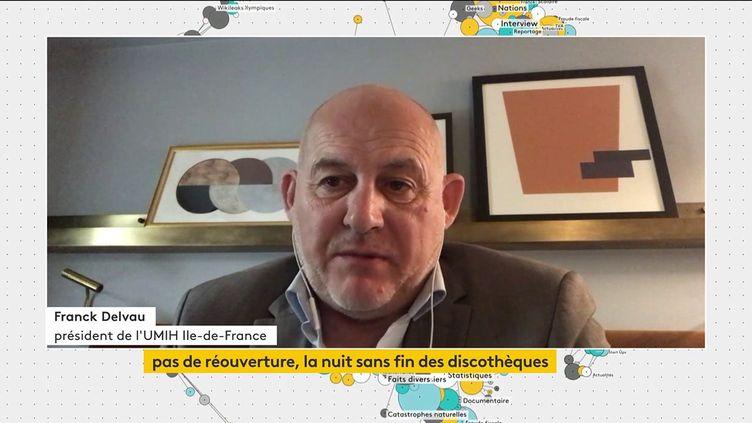 Franck Delvau était l'invité du JT de franceinfo canal 27. (FRANCEINFO)