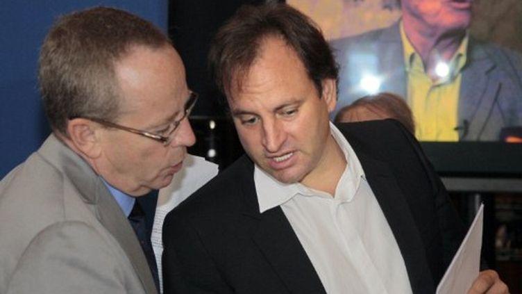 Renaud Donnedieu de Vabres (à gauche) (JACQUES DEMARTHON / AFP)