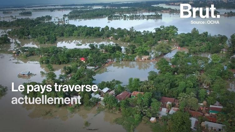 VIDEO. Au Bangladesh, près d'un quart du pays est sous les eaux (Brut.)