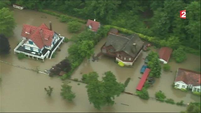 Inondations : un survol de la zone impressionnant