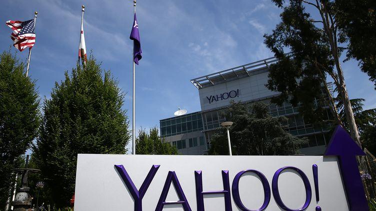 Le siège de Yahoo!, à Sunnyvale en Californie (Etats-Unis), le 23mai 2014. (JUSTIN SULLIVAN / GETTY IMAGES NORTH AMERICA / AFP)