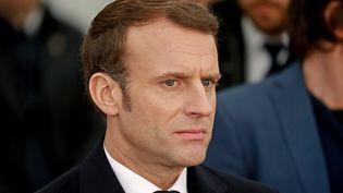 Emmanuel Macron, le 23 janvier 2020, à Jérusalem, en Israël. (LUDOVIC MARIN / AFP)
