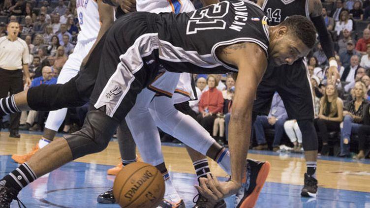 Le joueur des Spurs, Tim Duncan