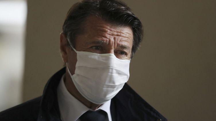 Christian Estrosi, maire de Nice, à Nice (Alpes-Maritimes), le 28 avril 2020. (VALERY HACHE / AFP)
