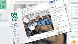 Le numéro était inscrit sur une pancarte (ici effacé), lors de la manifestation des jeunes pour le climat, le 15 mars 2019 à Besançon. (CAPTURE D'ÉCRAN / FACEBOOK ALTERNATIBA BESANCON)