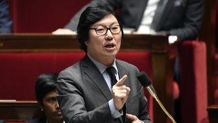 Jean-Vincent Placé, durant une séance de question au gouvernement, le 24 janvier 2017, à l'Assemblée nationale. (BERTRAND GUAY / AFP)