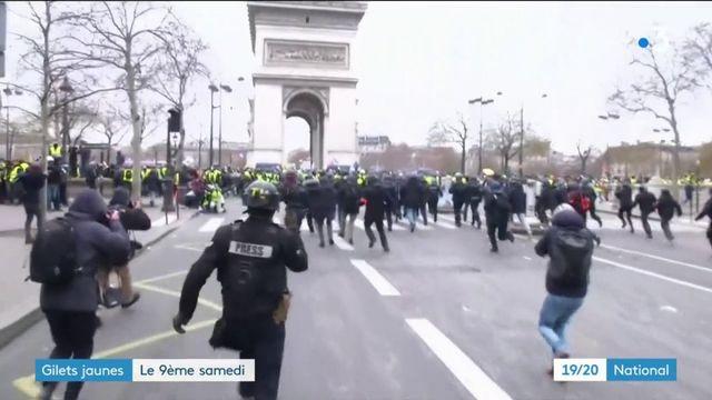 """""""Gilets jaunes"""" : regain de mobilisation à Paris"""