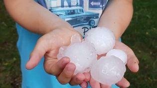 Un violent orage de grêle a frappé la région de Clermont-Ferrand (Puy-de-Dôme) lundi 1er juillet. (FRANCE 2)