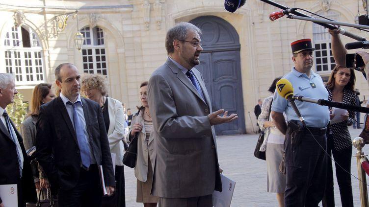 François Chérèque, secrétaire général de la CFDT, le 29 mai 2012, à Matignon (Paris). (PIERRE VERDY / AFP)