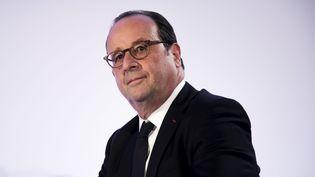 François Hollande lors d'une conférence de presse à Paris, le 7 juin 2018. (MAXPPP)