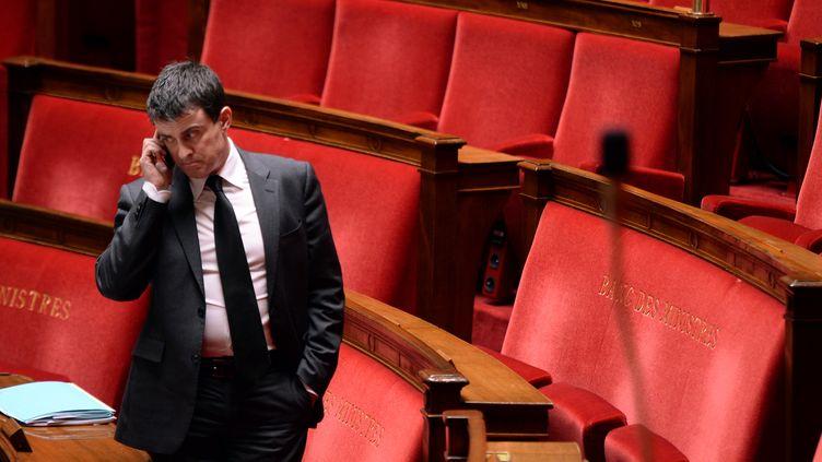 Manuel Valls, le 8 janvier 2014 à l'Assemblée nationale. (MARTIN BUREAU / AFP)