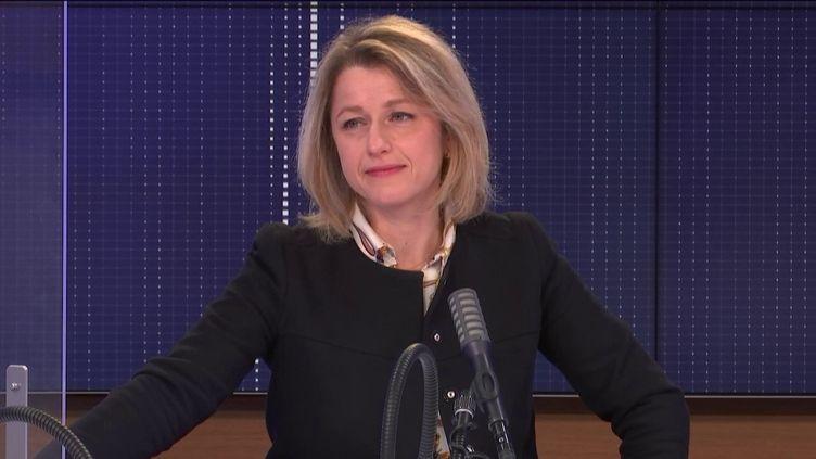 """Barbara Pompili,ministre de la Transition écologique était l'invitée du """"8h30franceinfo"""", lundi 11janvier 2021. (FRANCEINFO / RADIOFRANCE)"""