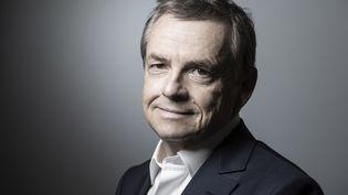 Alain Weill,PDG d'Altice France et de SFR, le 30 janvier 2019. (JOEL SAGET / AFP)