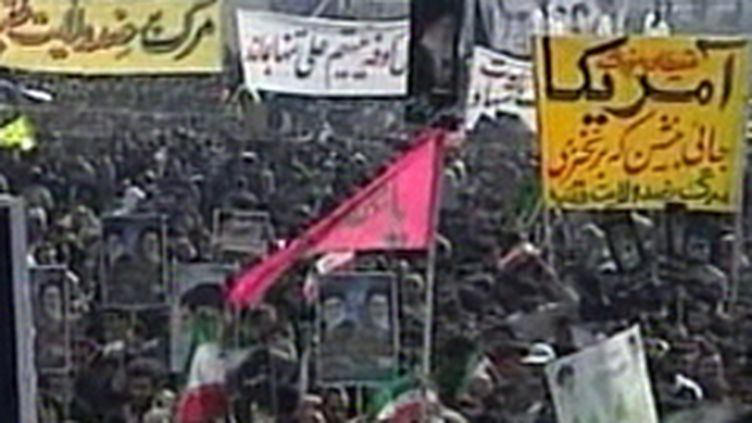 Immense foule rassemblée sur la grande place Azadi à Téhéran pour le 31e anniversaire de la Révolution islamique (France 3)