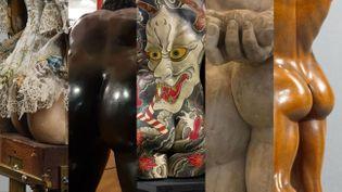 Photos postées dans le cadre du BestMuseumBum, un défi lancé sur les réseaux sociaux aux musées du monde entier. Avec des images du musée des Arts et Métiers, du Bradford Museum, du musée du quai Branly Jacques-Chirac, du musée archéologique de Naples et de la Wallace Collection. (CAPTURE D'ÉCRAN)