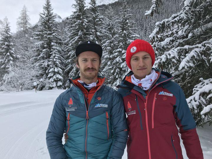 Tristan et Louna Ladevant font partie des meilleurs mondiaux. Ils s'entraînent le plus souvent à la Tour de glace de Champagny-en-Vanoise, un site unique en Europe. (JÉRÔME VAL / FRANCE-INFO)