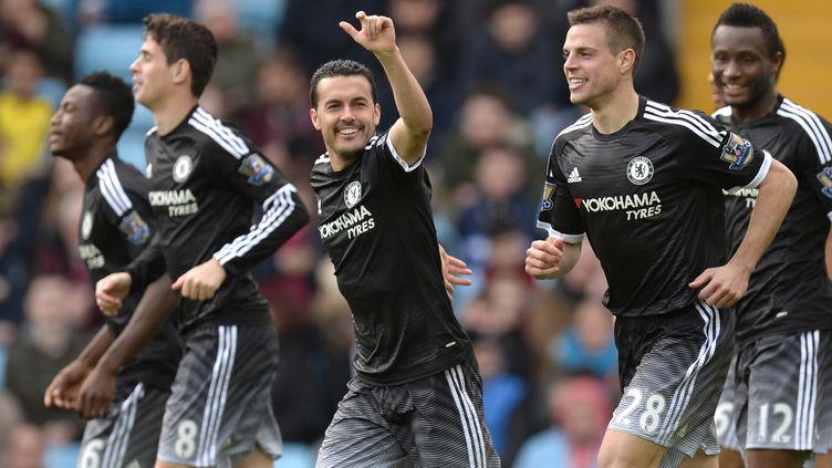 Pedro, auteur d'un doublé avec Chelsea, contre Aston Villa (OLI SCARFF / AFP)