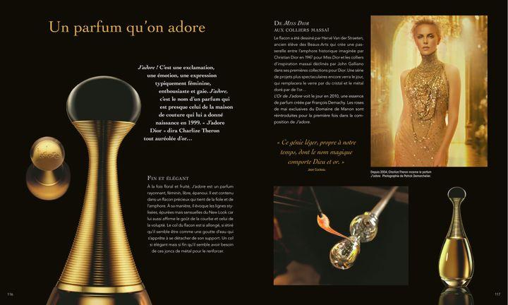 "Page extraite du livre ""Dior for ever""  (Laziz Hamani © Christian Dior Parfums. Sophie Carre. )"