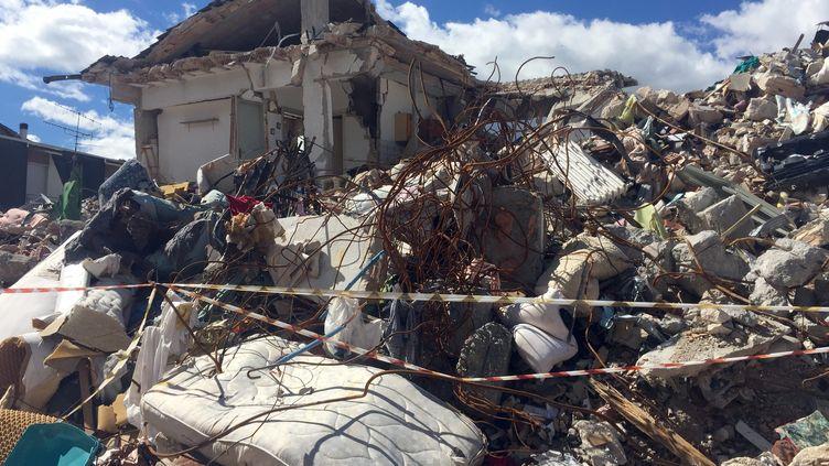 Le village d'Amatrice le 20 septembre 2016, presqu'un mois après le séisme qui a frappé le centre de l'Italie. (ANNETTE REUTHER / DPA)