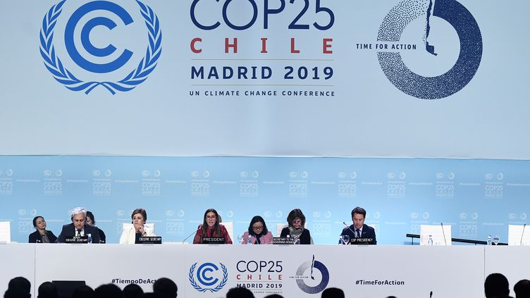La COP25 s'est déroulée à Madrid (Espagne). Photo d'illustration. (OSCAR DEL POZO / AFP)