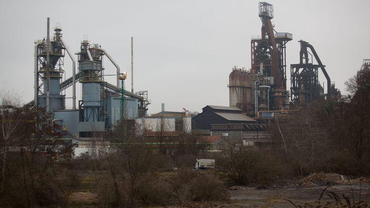Les hauts-fourneaux du site d'ArcelorMittal à Florange (Moselle), le 24 février 2012. (MAXPPP)