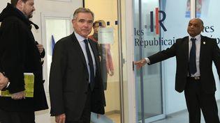 Bernard Accoyer, le nouveau secrétaire général des Républicains, le 29 novembre 2016 au siège du parti, à Paris. (BERTRAND GUAY / AFP)