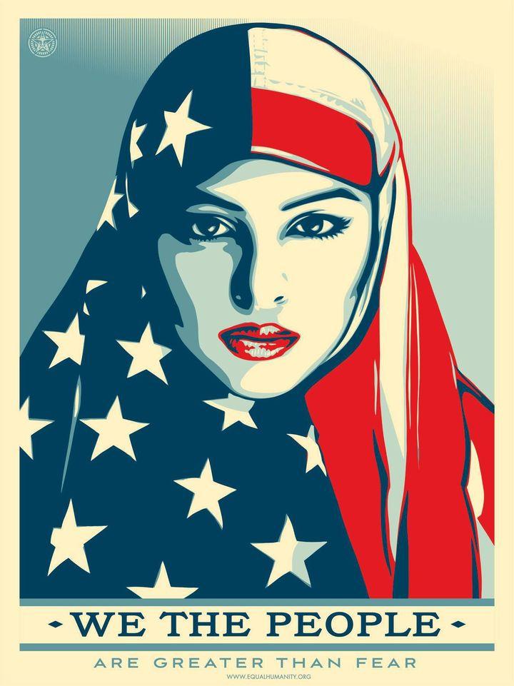«Nous, le peuple, nous sommes plus forts que la peur» (Shepard Fairey)