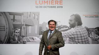 Daniel Auteuil lors de la soiré d'ouveture du 11e festival Lumière de Lyon (JEFF PACHOUD / AFP)