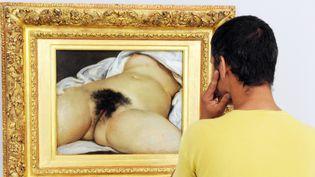 """Le tableau de Gustave Courbet """"L'Origine du monde""""  (PASCAL GUYOT / AFP)"""