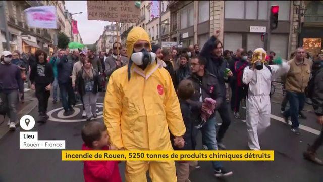 Incendie de Rouen : 5 250 tonnes de produits chimiques détruits