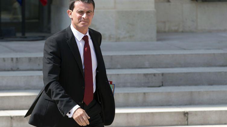 Le Premier ministre, Manuel Valls, le 30 juillet 2014 à Paris. (KENZO TRIBOUILLARD / AFP)