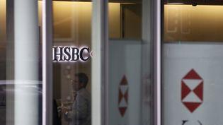 La banque HSBC, à Genève (Suisse), le 18 février 2015. (PIERRE ALBOUY / REUTERS)