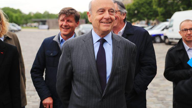 Le maire de Bordeaux, Alain Juppé, le 10 mai 2017, dans sa ville lors des commémorationsde l'abolition de l'esclavage. (BONNAUD GUILLAUME / MAXPPP)