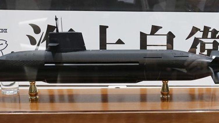 Sous-marin diesel-électrique Soryu, exposé au salon MAST-Asie 2015 à Yokohama, au sud de Tokyo, le 13 mai 2015. (REUTERS / Toru Hanai)