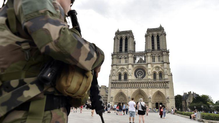 Notre Dame deParis sous surveillance en juillet 2016 (ALAIN JOCARD / AFP)