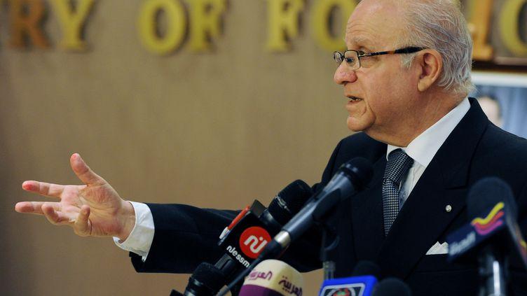 Mourad Medelci, ministre des Affaires étrangères algérien le 3 décembre 2012 à Alger. (FAROUK BATICHE / AFP)