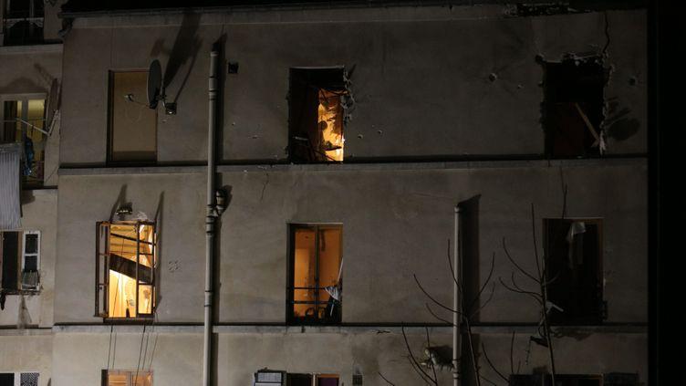 (L'immeuble du 48 rue de la République à Saint Denis © MaxPPP)