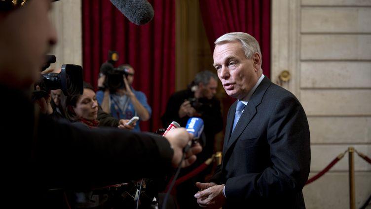 Le Premier ministre, Jean-Marc Ayrault, le 30 octobre à l'Elysée (Paris). (MARTIN BUREAU / AFP)