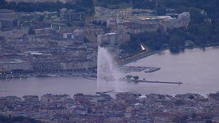 Vue aérienne de Genève (Suisse). (france 3)