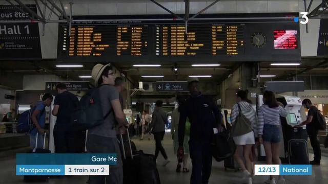 Montparnasse : un train sur deux