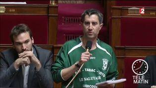 François Ruffin a récemment porté un maillot de football à l'Assemblée. (FRANCE 2)