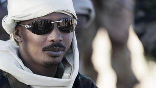 Le général Mahamat Idriss Déby près deTessalit, au Mali, le 14 mars 2013. (KENZO TRIBOUILLARD / AFP)